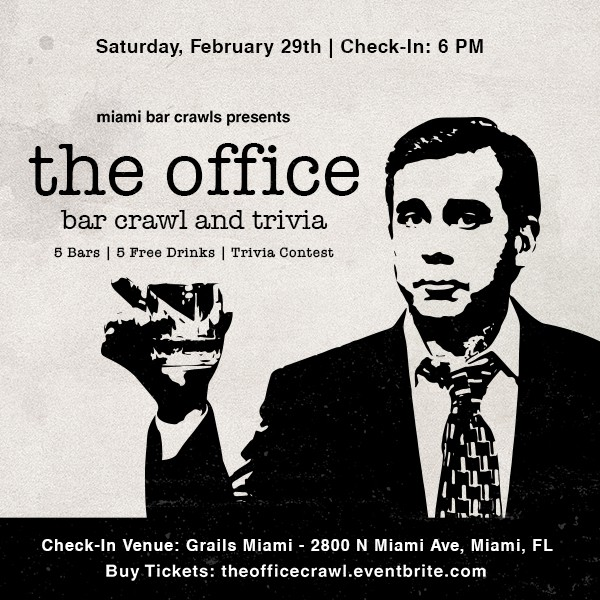 The Office Trivia and Bar Crawl Instagram Graphic