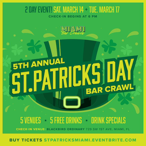 5th Annual St. Patrick's Day Bar Crawl Graphic